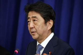 A file photo of Shinzo Abe. Abe said it would be important to find a balance between spending on the policy package and improving Japan's finances.  Photo: AP