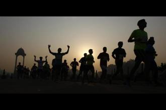 In the first week alternate walking with running in short bursts. Photo: Hindustan Times