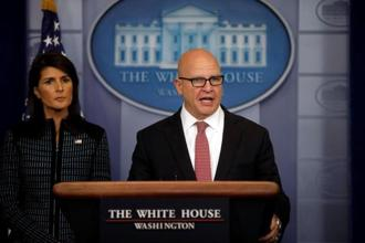 A file photo of national security adviser H.R. McMaster. Photo: Reuters