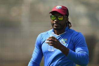 A file photo of West Indies cricketer  Chris Gayle. Photo: AFP