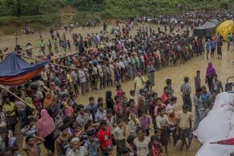 A new deluge of refugees since 25 August has put pressure on the existing camps, which were already home to 300,000 Rohingya Muslims. Photo: AFP