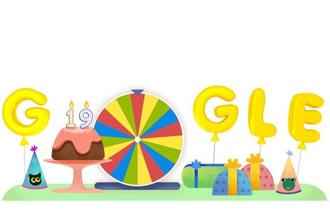 Is the doodle for Google which is turning 19 on 27 September? Or are the doodles turning 19?