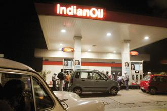 Shares of Bharat Petroleum, Hindustan Petroleum and Indian Oil  were down 11-12% in September. Photo: Bloomberg