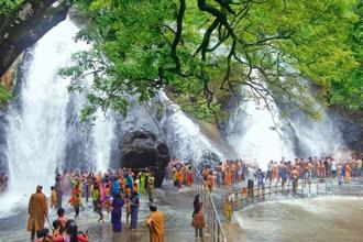 The 'Five Falls'. Photo: Tirunelveli Tourism Department