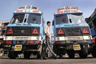 For the year that ends in March, Crisil Ltd estimates that the overall truck and bus market will grow only 4-6%. Photo: Bloomberg
