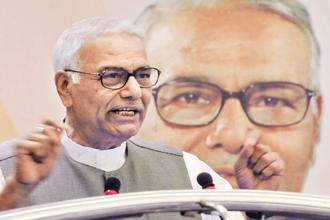 File photo. Yashwant Sinha also hit back at Jaitley and other BJP leaders for their criticism of his work as a finance minister. Photo: Hindustan Times