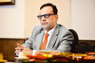 Revenue secretary Hasmukh Adhia. Photo: Pradeep Gaur/Mint