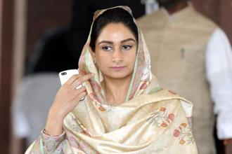 Food processing minister Harsimrat Kaur Badal said programmes like the Pradhan Mantri Kisan Sampada Yojana would create Rs6,000 crore worth of infrastructure in the next three years. File photo: HT