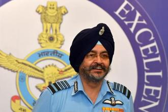 Air Chief Marshal BS Dhanoa during a news conference ahead of Air Force Day, in New Delhi on Thursday. Photo: Kamal Kishore/PTI