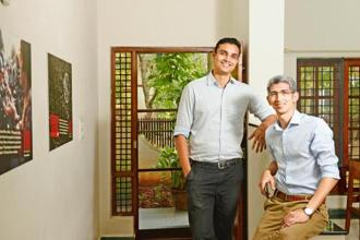 Jithin Nedumala (left), founder and chief executive, and Rizwan Tayabali, co-CEO of Make A Difference. Photo: Hemant Mishra/Mint