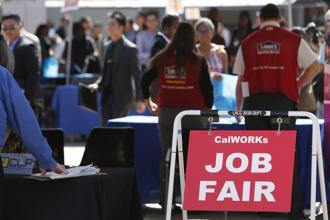 Net employment outlook is the difference between the number of respondents inclined to hire and the number of respondents disinclined to hire, over the next six months expressed in percentage. Photo: Bloomberg