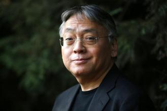 British novelist Kazuo Ishiguro at his home in London on Thursday.  Photo: AP