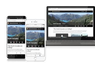 The  iOS version of Microsoft Edge  is based on Apple's Webkit  engine which is used in Safari, and the Android version uses the Chromium engine, which runs the Chrome browser, instead of using Microsoft EdgeHTML  engine.