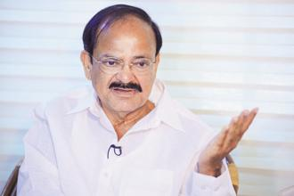 Speaking on a day when the GST council is meeting in Delhi, Vice-President Venkaiah Naidu said that people must understand that any transformation, any reformation face 'some initial hiccups, some teething troubles'. Photo: Pradeep Gaur/Mint