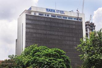 Tata Steel shares gained 4.73% to settle at Rs691.40 on BSE. Photo: Indranil Bhoumik/Mint