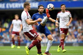 Chelsea's Cesc Fabregas (centre) in action during a match against Burnley. Photo: Reuters
