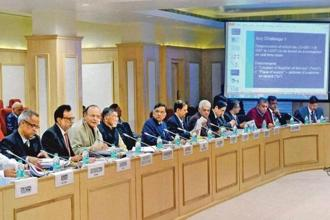 A file photo of GST Council members. Photo: Mint