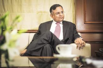 A file photo of Tata Sons chairman N. Chandrasekaran. Photo: Aniruddha Chowdhury/Mint