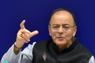 File photo. At an event jointly organised by CII and US India Business Council in New York, finance minister Arun Jaitley said global integration of Indian economy is happening at a time when other economies are becoming more protectionist. Photo: PTI