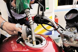 A proposal to include petrol and diesel under the GST regime has not been discussed at the GST Council as yet. Photo: HT