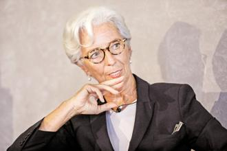 IMF CEO Christine Lagarde. IMF has made a strong case for India adopting a fiscally neutral Universal Basic Income by eliminating both food and fuel subsidies. Photo: Priyanka Parashar/ Mint