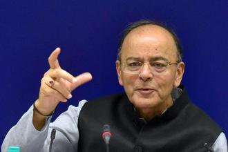 File photo. Finance minister Arun Jaitley is on a week-long visit to the US to attend the annual meetings of the International Monetary Fund (IMF) and the World Bank. Photo: PTI