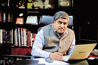 Nandan Nilekani said that it is easier for the developing countries to leapfrog by building a right digital infrastructure. Photo: Mint