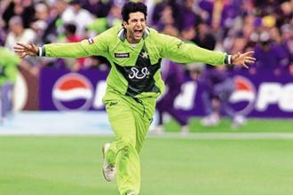 Wasim Akram was a champion second innings bowler. Photo: Ian Hodgson