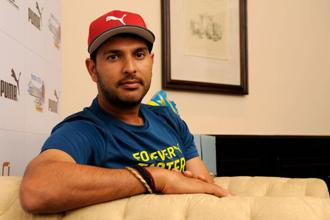 Yuvraj Singh wants to continue playing cricket for India in any format chosen for till 2019. Photo: HT
