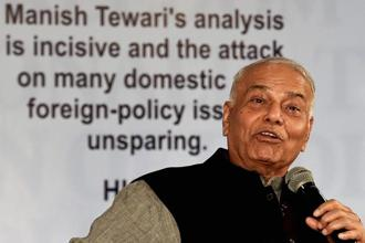 Former Union minister Yashwant Sinha said GST could have been a 'good and simple tax' but the people in power made it a 'bad and complicated tax.' Photo: PTI
