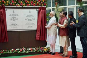 PM Narendra Modi inaugurated the first All India Institute of Ayurveda on the occasion of 2nd Ayurveda Day, in New Delhi on Tuesday. Photo: PTI