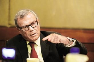 Martin Sorrell, CEO of WPP that runs ad agencies J. Walter Thompson, Ogilvy and Grey Worldwide, says Brand India is in strong shape, and under PM Narendra Modi, it has got considerably stronger. Photo: Pradeep Gaur/Mint