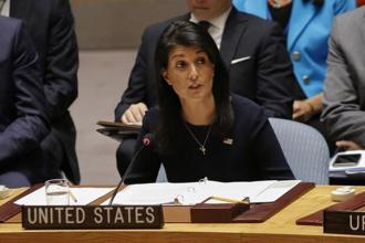 Nikki Haley said as she identified Russia and China as the two global powers against changes in the current structure of the Security Council. Photo; AFP