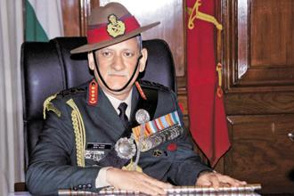 Army chief General Bipin Rawat also said that the security situation in the Kashmir Valley was improving. Photo: PTI