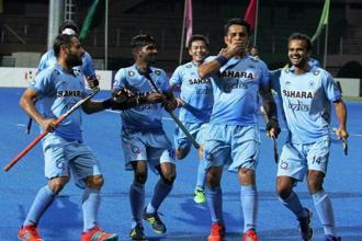 India, which won the Asia Cup last time in 2007 in Chennai, scored from field efforts through Ramandeep Singh (3rd minute) and Lalit Upadhyay (29th) to dash the hopes of Malaysia, who were in summit clash for the first time. Photo: PTI