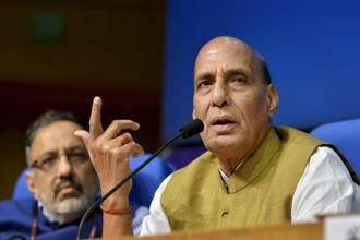 Home minister Rajnath Singh says the government is considering using technology to ensure a temperature of at least 20 degrees Celsius is maintained in all high-altitude ITBP posts. Photo: PTI