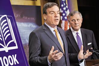 US senator Mark Warner slammed Twitter for not doing enough to restrict suspicious Russian activity on its network. Photo: Bloomberg