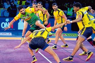 Pro kabaddi calls for relentless action, which makes it an ideal platform for younger players. Photo: AP