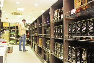Sales growth in United Spirits's prestige and above segment, which includes brands like McDowell's No.1, Royal Challenge, Antiquity and Signature, was fuelled by the firm's brand renovation and premiumization strategy. Photo: Ramesh Pathania/Mint