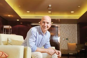 If Amazon's  share gains hold through Friday's trading session, Jeff Bezos will become world's richest person for the first time. Photo: Hemant Mishra/Mint