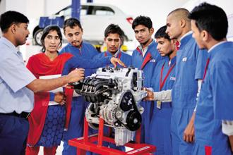 A file photo of Maruti Suzuki's centre of excellence for automobile skill training. Photo: Pradeep Gaur/Mint