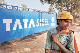 Tata Steel managed to meet estimates on revenue, which rose 20% to Rs32,464.1 crore in the September quarter. Photo: Reuters