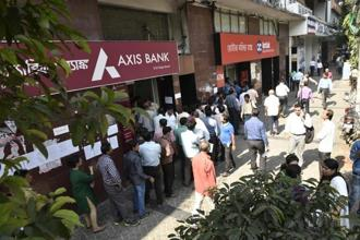 Bain Capital is in advanced talks with Axis Bank to invest between $750 million and $1 billion (Rs4,800-6,400 crore). Photo: Indranil Bhoumik/Mint