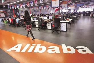 Alibaba is now predicting a 49 to 53% rise in revenue in the current fiscal year. Photo: Reuters