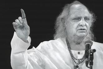 Hindustani vocalist Pandit Jasraj opened the summit. Photographs: Rohit Chawla