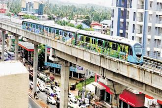 Kochi won the best urban transport initiative award for fastest completion of its integrated metro rail. File photo: Mint