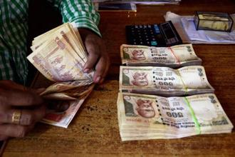 Counterfeit currency worth Rs43.5 crore, the largest cache ever, was detected by the banking system during the fiscal year 2016-17. Photo: PTI