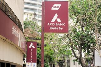 "Axis Bank has installed digital self-service kiosks, which it has christened ""speed banking"" services, at over 1,000 branches (out of a total of around 3,400 branches). Photo: Abhijit Bhatlekar/Mint"
