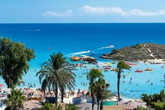 A view of Nissi Beach. Photos: Alamy.