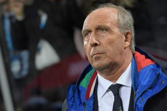 Italian coach Gian Piero Ventura was widely criticized for poor tactical decisions before and after Sweden's 1-0 aggregate win over the Azzurri. Photo: AFP